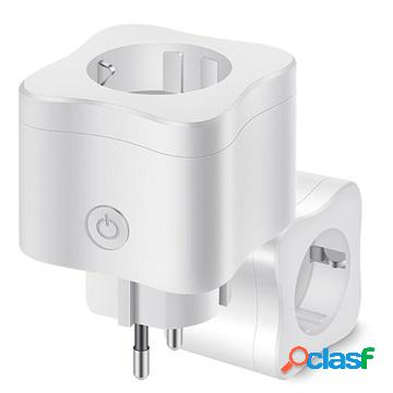 Smart home wifi power outlet - 10a, 100-240v - white