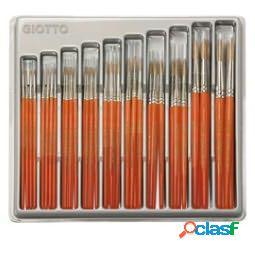 Pennelli punta tonda serie 700 - pelo di bue - giotto - vetrinetta 64 pezzi (unit vendita 1 pz.)