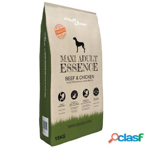 Vidaxl cibo secco cani premium maxi adult essence beef & chicken 15kg