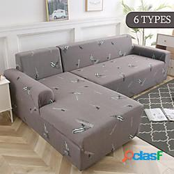 Copridivano elastico geometrico per soggiorno copridivano angolare moderno componibile fodere copridivano coprisedia adatto per 1-4 cuscini divano e divano a forma di l (1pcfree inviare una f