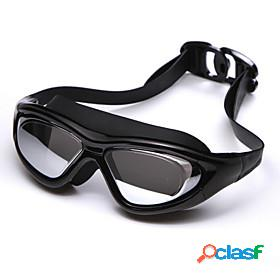 Swimming goggles waterproof anti-fog adjustable size shatter-proof prescription uv protection for silica gel pc reds blacks silver gray