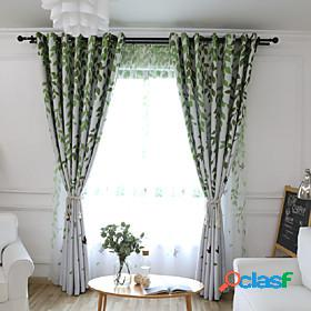 Gyrohome 1pc gyc2248 willow swallow shading high blackout curtain drape window home balcony dec children door customizable living room bedroom dining room