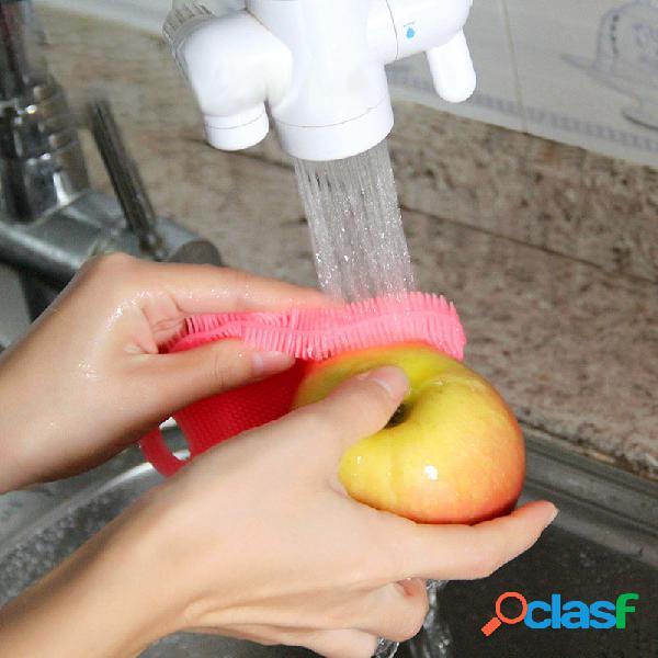 Silicone cucina magia lavaggio stoviglie pennello detergente per utensili da cucina