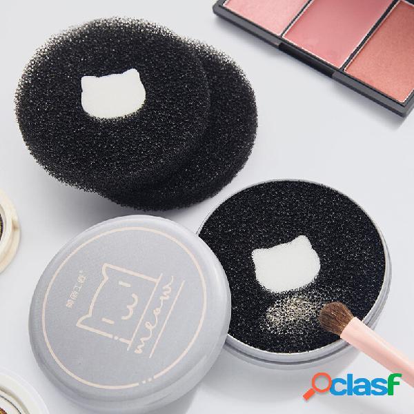 Trucco pennello pulizia ferro scatola spugna scrubber pulizia rapida a secco trucco strumento di pulizia