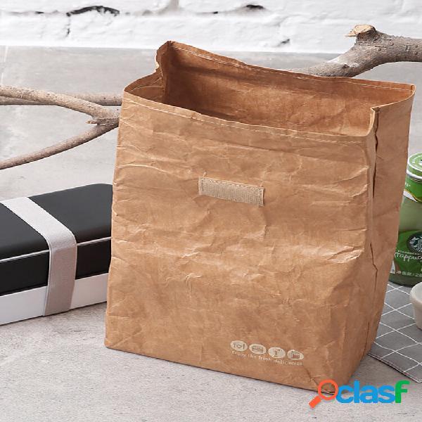 Carta kraft bento borsa pellicola in alluminio per carta dupont per protezione ambientale scatola borsa