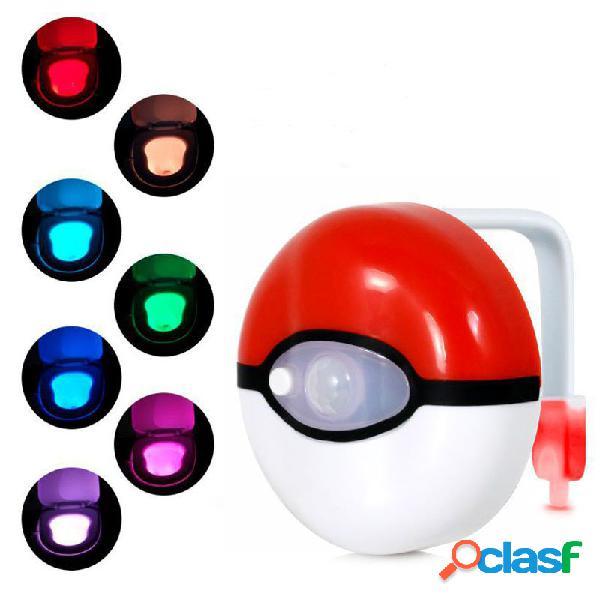 Sensore di movimento del corpo affidabile sicuro 8-colours lampada da notte a led per wc a sospensione automatica per il