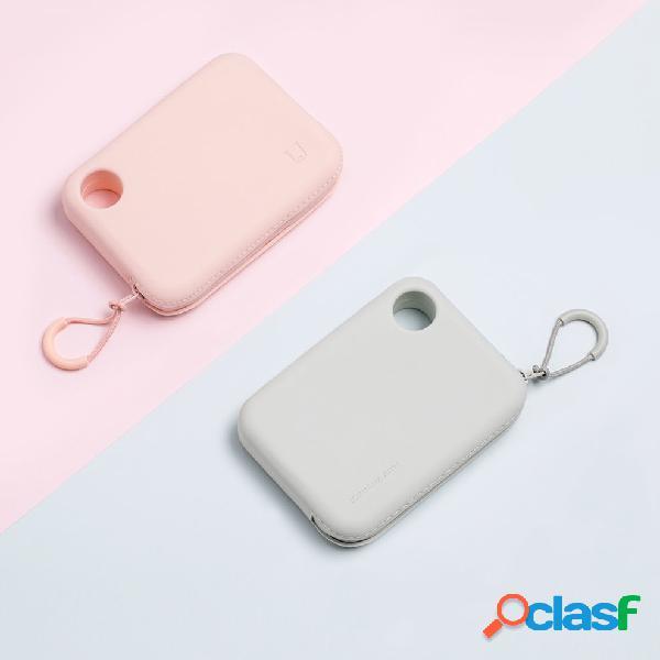 Jia silicone custodia portatile con cerniera borsa portafoglio leggero