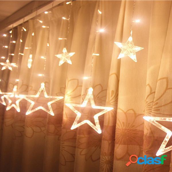 5m 138led catene illuminose a forma di stelle per tenda decorazione domestica per celebrazione festival e nozze