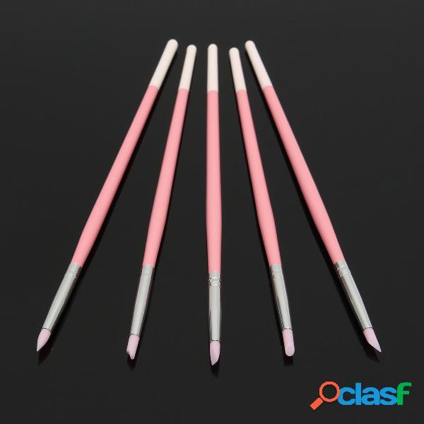 Attrezzi di incisione del manicure della penna del chiodo del gel di silice di 5pcs / kit