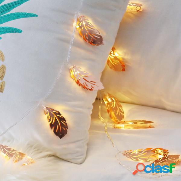 Piuma d'oro led luce notturna lampeggiante illuminazione romatic home decor lampada per biancheria da letto matrimonio p