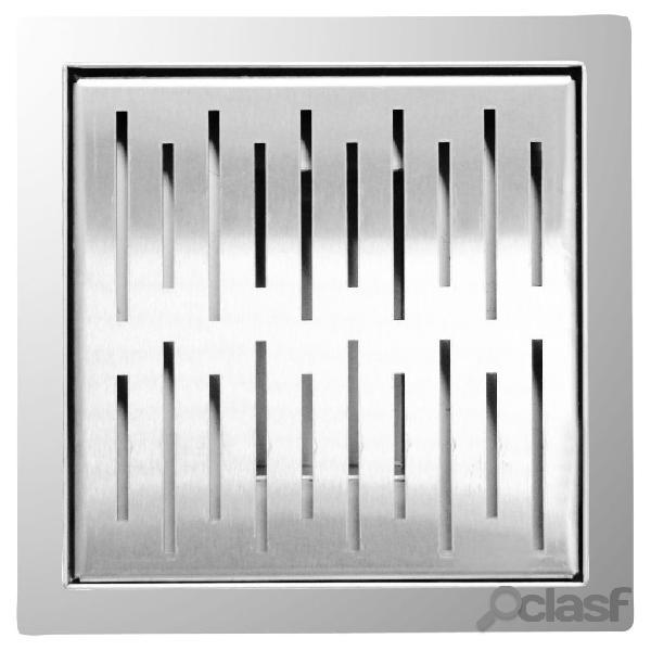 L'aqua scarico per doccia 20x20 cm quadrato in acciaio inossidabile