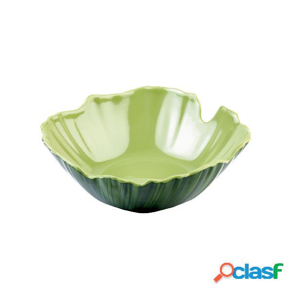 Ciotola cm 30 palma col. verde, melamina, cm 34 - peso 0,91 kg