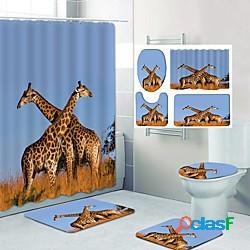 Stampa motivo giraffa bagno tenda doccia per il tempo libero toilette design in quattro pezzi lightinthebox