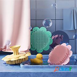 Spazzole da bagno in silicone per bambini spazzola per shampoo rimuovere la forfora fango da bagno per neonati bambini spazzola per shampoo per bambini lightinthebox
