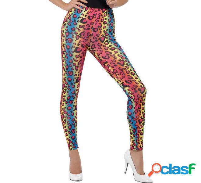 Maglia con stampa leopardo multicolor