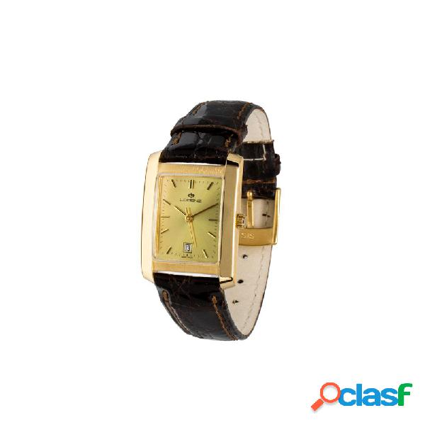 Orologio donna lorenz oro e pelle - 023053bc