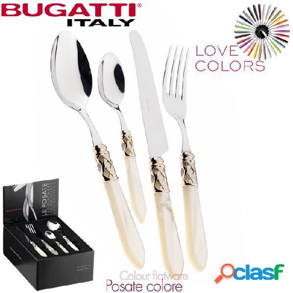 Bugatti aladdin dorate set posate 24 pz avorio madreperla