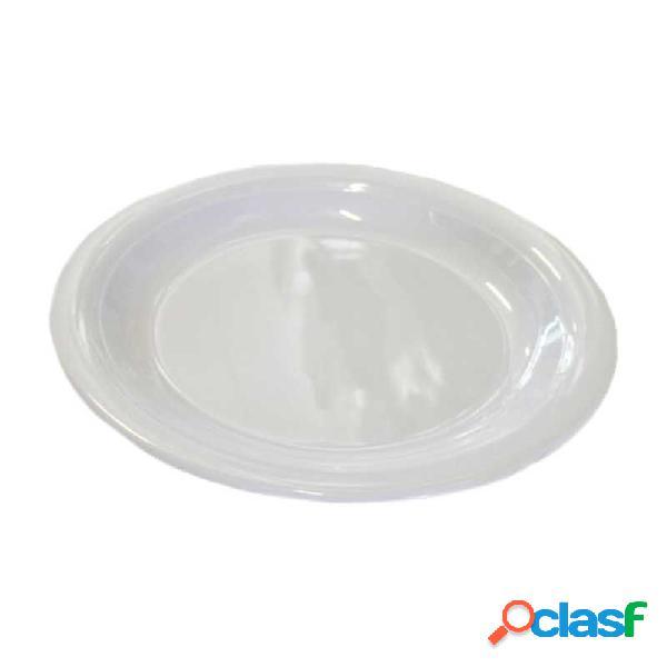 Piatto piano in melamina lucida diametro 230 mm