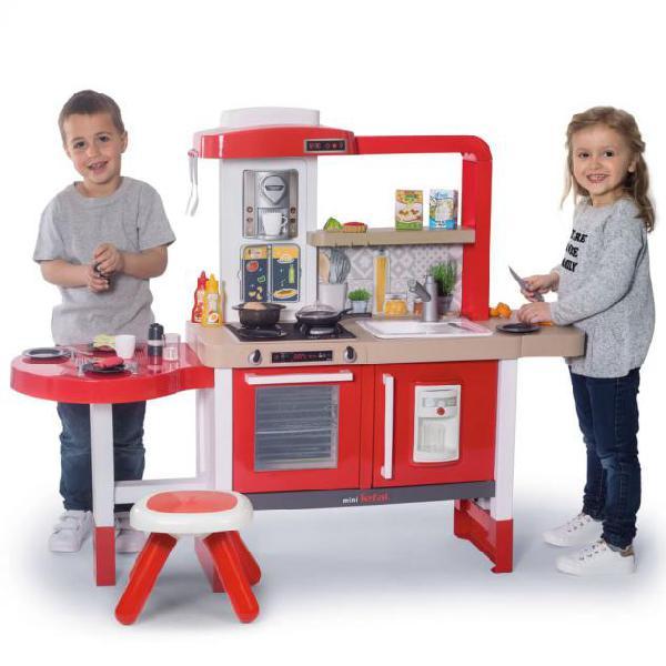 Smoby cucina giocattolo 43 pz tefal kitchen grand chef