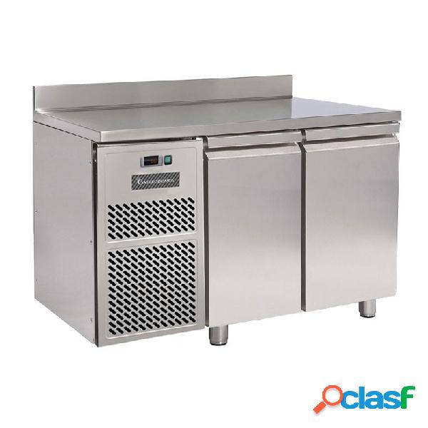 Tavolo frigo motore a sinistra 2 porte con alzatina prof. 600 mm temperatura 0°c/+10°c