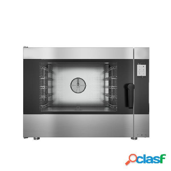 Forno a gas convezione-vapore-misto, touch screen, per 5 teglie gn1/1 o 600x400 mm con lavaggio automatico