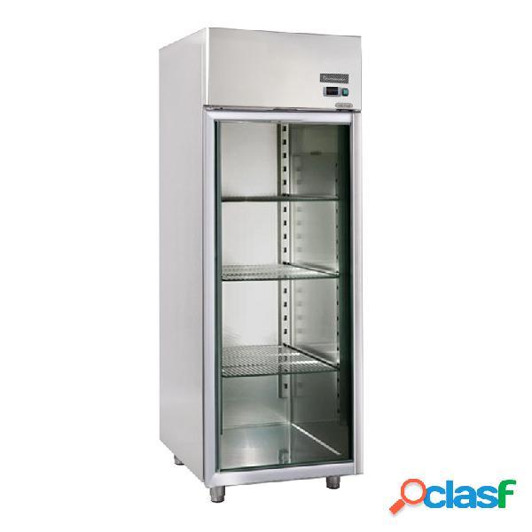 Armadio refrigerato acciaio inox porta vetro - ventilato - 600 lt - temp. 0°/+10°c