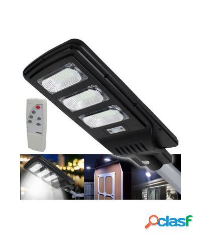 Faro per lampione led solare 60w pannello energia solare ip65 integrato 6500k