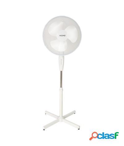 Ventilatore a piantana 45w pale 40 cm bianco hm-8670