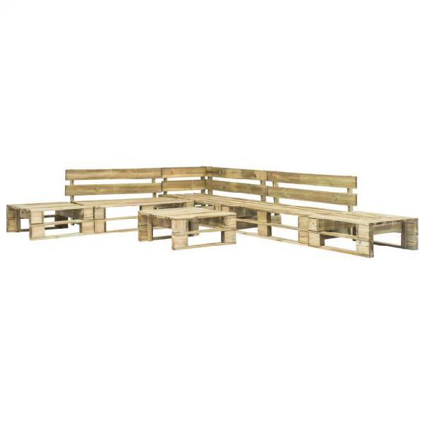 Vidaxl set divani da giardino con pallet 6 pz in legno
