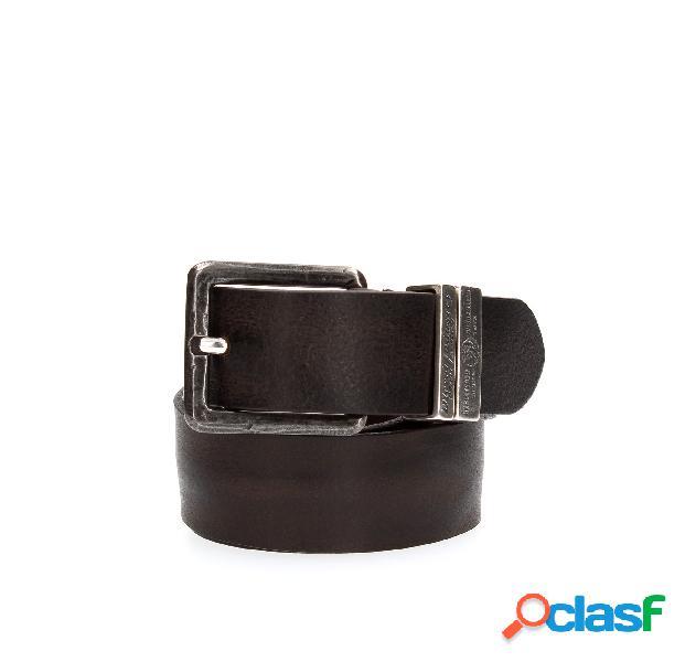 Cintura in morbida pelle, fibbia con logo diesel inciso sul passante, 100% pelle