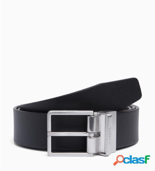 Cintura in vera pelle,fibbia quadrata in metallo,reversibile, larghezza: 3,5 cm, calvin klein logo in rilievo sulla chiusura.