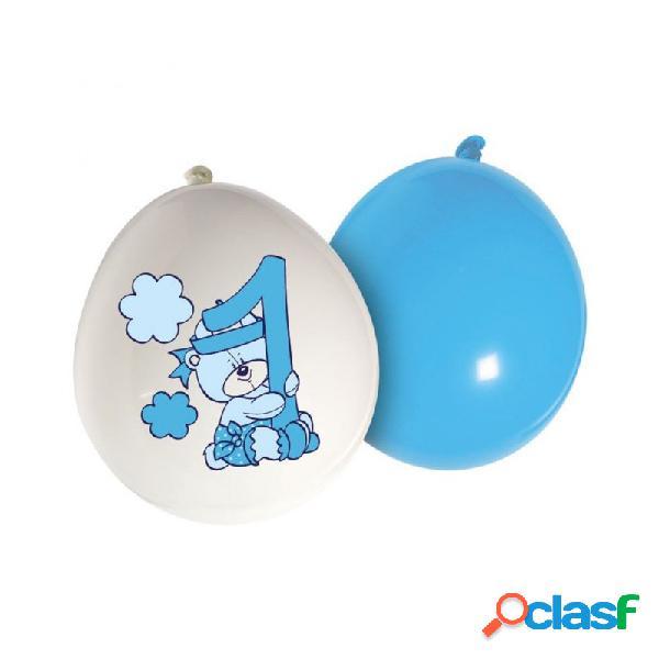 20 palloncini 1° compleanno teddy maschietto addobbo festa party gioco bambino