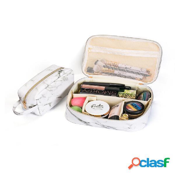 Portable comestic borsa marble trucco organizzatore custodia borsa travel borsa nero bianco due dimensioni