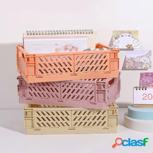 Mini cancelleria da tavolo pieghevole in plastica fai-da-te 1pc organizzatore archiviazione scatola cestino portaoggetti