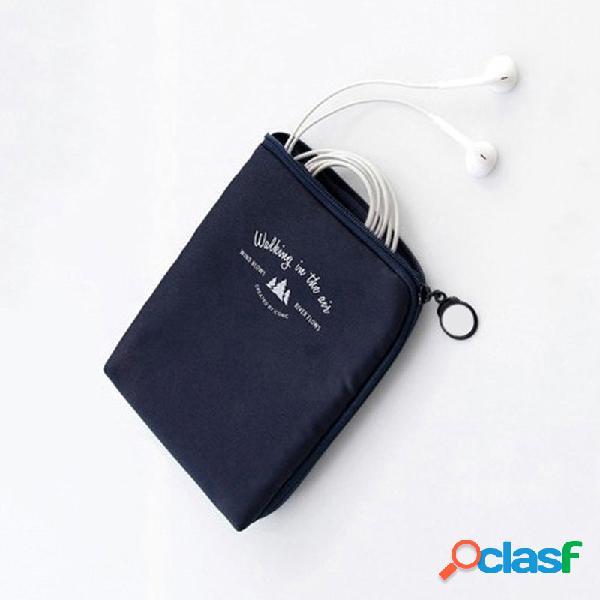 Organizzatore di caricabatterie per auricolari di cavi antiurto di archiviazione digitale portatile