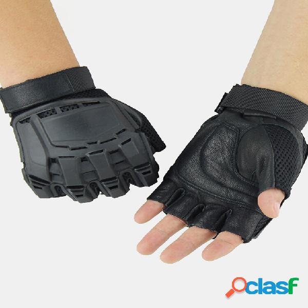 Tattico da esterno guanti moto da equitazione alpinismo mezzo dito guanti