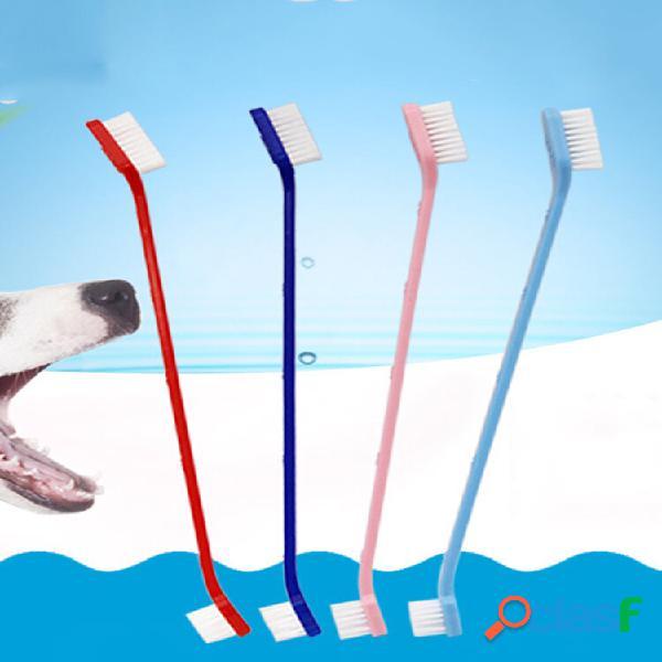 Articoli per animali domestici spazzolino da denti per animali domestici di alta qualità nylon spazzolino da denti per c