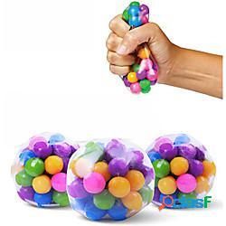1 pz palline antistress trasparenti palline colorate autismo umore spremere sollievo giocattolo sano divertente gadget sfiato giocattolo bambini regalo di natale lightinthebox