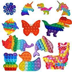 3 pezzi pop animale è push pop fidget giocattoli per bambini kawaii fossetta figet giocattolo bambini poppit antistress bolla miglior regalo di compleanno 2021 miniinthebox