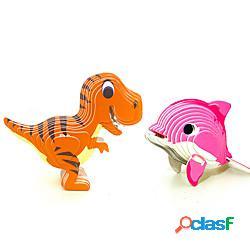 Puzzle 3d dinosauro delfino animali ornamenti desktop fai da te stress e ansia sollievo fuoco giocattolo bambini adulti tutti ragazzi e ragazze giocattolo regalo miniinthebox