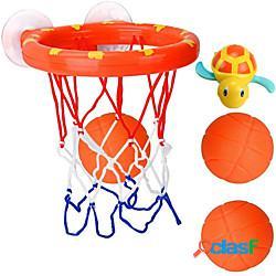 Giocattolo per il bagnetto basket tartaruga gomma da cancellare plastica abs interattivo blu bagno 2 pcs per i più piccoli, regalo del bagnetto per bambini e neonati / per bambini miniinthebo