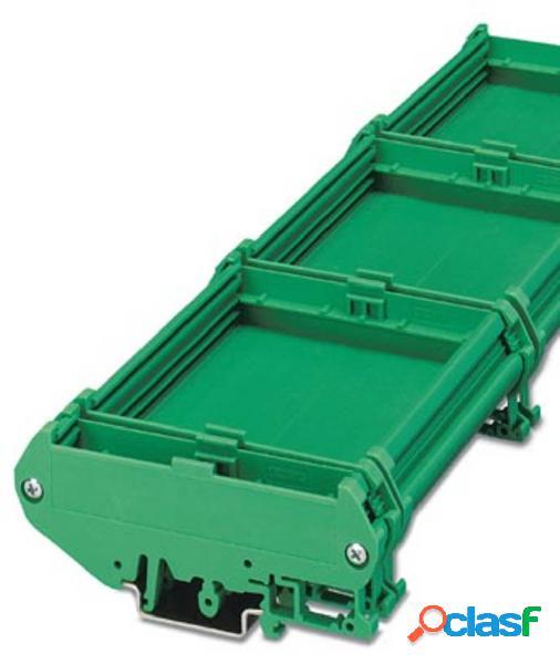 Phoenix contact um108-sefe/l bk elemento laterale per contenitore guida din plastica 10 pz.