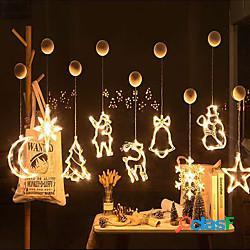 Luce notturna led campana babbo natale angelo decorazione luce 3d luce notturna compleanno tenda della finestra decorazione natale matrimonio festa a casa decorazione 1 set ventosa lightinthe