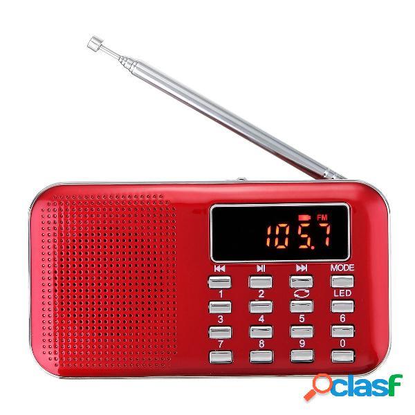 [eu] mini altoparlante fm am radio digital lcd supper bass (oro)