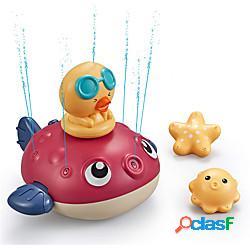 Giocattolo da bagno per bambini, irrigatore giocattolo da bagno, giocattolo per bambini interattivo, giocattolo da bagno per bambini piccoli, giocattolo per bambini perfetto per un regalo, gi