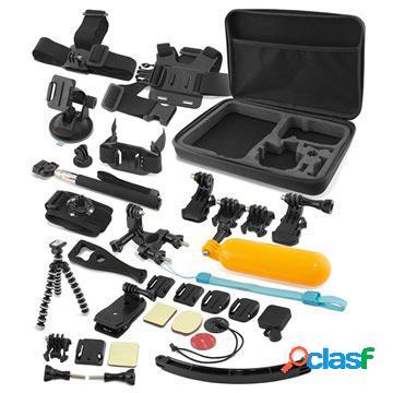 Kit accessori da 38-in-1 per gopro e action camera ksix ultimate