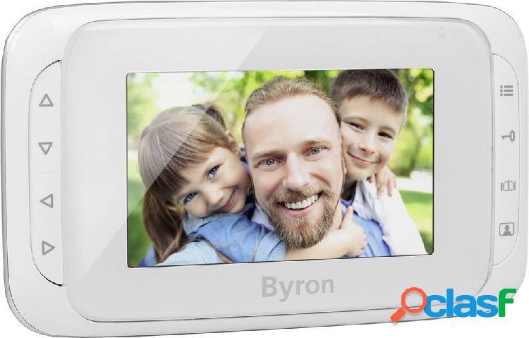 Byron dic-22805 unità interna video, monitor aggiuntivo accessorio citofono senza fili, digitale, senza fili (radio) bianco