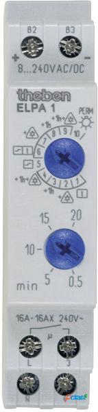 Theben 0010002 relè temporizzatore luci scale guida din 8 v dc/ac, 12 v dc/ac, 24 v dc/ac, 110 v dc/ac, 230 v dc/ac
