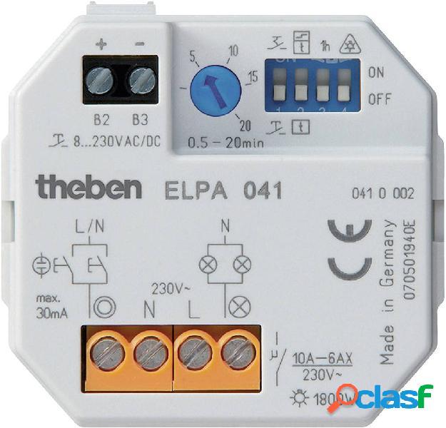 Theben 0410002 relè temporizzatore luci scale ad incasso 8 v dc/ac, 12 v dc/ac, 24 v dc/ac, 110 v dc/ac, 230 v dc/ac