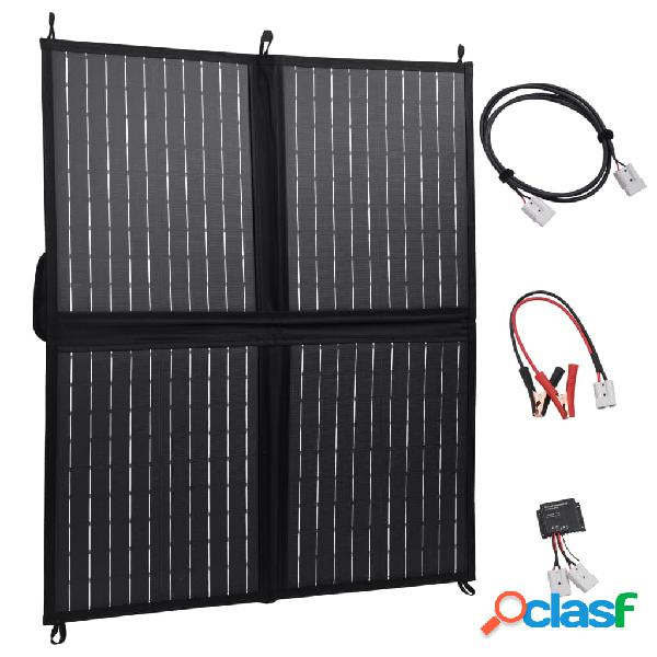 Vidaxl pannello solare carica batteria pieghevole 80w 12v